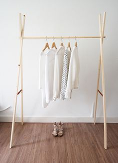 DIY Wooden Clothing Rack.