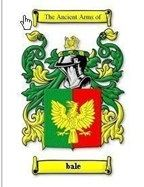 Bale Coat of Arms Bale Family Crest History Print