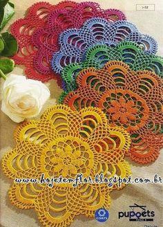 Hoje tem Flor !!!: Toalhinha em crochê com gráfico
