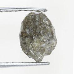 1.23 TCW Silver Color Loose Natural Sparkling Rough Diamond