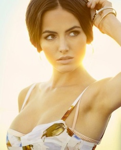 Camilla Belle. Her hair and makeup are always perfect!