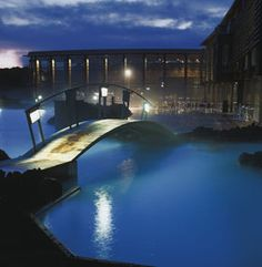 Feel like a relaxing spa treatment? Take a trip to the Blue Lagoon in Iceland. Nice.