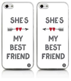 She's My Best Friend on White iPhone Case - Left Side - CasesPhone - - Best Phone Wallpapers, Funny Bff Iphone Cases, Bff Cases, Ipod Cases, Cute Cases, Cute Phone Cases, Matching Phone Cases, Best Friend Cases, Friends Phone Case, Best Friends