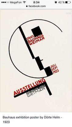 Dorte Helm (German, - Bauhaus Ausstellung Weimar - 1923 - Lithograph - MoMA di New York Art Bauhaus, Design Bauhaus, Bauhaus Style, Herbert Bayer, Art Deco, Art Nouveau, Typography Design, Lettering, Graphisches Design