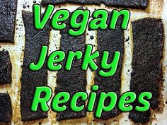 6 Delicious Vegan Jerky Recipes -It's not so hard to make vegan jerky recipe as you will read here in this article there are easy methods to make vegan jerky without dehydrator on anything fancy, you Vegan Apps, Vegan Foods, Vegan Snacks, Vegan Vegetarian, Raw Food Recipes, Veggie Recipes, Snack Recipes, Mushroom Recipes, Dr Recipe