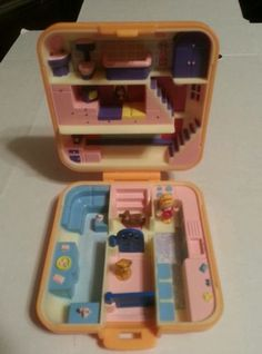 Polly Pocket Town House Compact COMPLETE 1989 Bluebird in Dolls & Bears | eBay