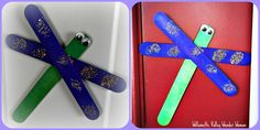 dragonflies crafts for kids or fly or could become a bee.  I've seen these colored with markers as well.  PERFECT for preschool!