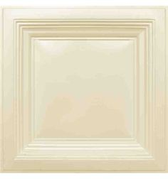 274 Faux Tin Ceiling Tile - Coffered - Cream Pearl