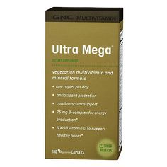 GNC makes one of the best multivitamins on the market. Their Ultra Mega formula is excellent for a flawless complexion! #November 2014 Top 5