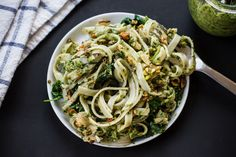 Pistachio Rosemary Pesto with Power Greens | making this today with zucchini 'pasta'- eat more greens!