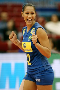 And now- my favourite volleyball player from Brasil. Jacqueline. She quited his career but she's seen as the most beautiful woman in female volleyball. She's amazing! ;)