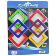MAGPLAYER Joc de constructie magnetic - 6 piese Cookie Cutters, Magnets, Cookies, Desserts, Playmobil, Crack Crackers, Tailgate Desserts, Deserts, Biscuits
