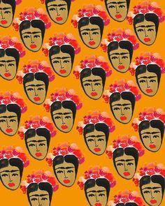 beauty Illustration art painting design portrait artist flowers watercolor colorful pattern print frida kahlo artists on tumblr textile desi...