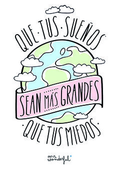 inspirational quotes quotes in Spanish motivadoras. And a bit of Spanish subjunctive practice, as well! Quotes To Live By, Me Quotes, Motivational Quotes, More Than Words, The Words, Mr Wonderful, Mo S, Spanish Quotes, Spanish Inspirational Quotes
