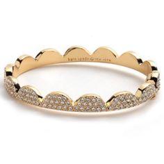 •Kate Spade Bracelet• gently worn• gold scalloped pace bracelet• comes with dustbag• Kate Spade Jewelry Bracelets