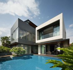 "Singapore-based studio Wallflower Architecture + Design has designed the Travertine Dream House. Completed in 2011, this three story contemporary home is located in Serangoon, a town situated in the central part of the city-state of Singapore. Travertine Dream House by Wallflower Architecture + Design: ""The client's brief for this house was simple. Functionally, to maximize usable area and to incorporate greenery. Aesthetically, to use travertine copiously as an architectural finish..."