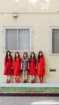 Red velvet- peek a boo Seulgi, Exo Red Velvet, Red Velvet Joy, Velvet Wallpaper, Boys Wallpaper, Kpop Girl Groups, Kpop Girls, Red Velet, Velvet Fashion
