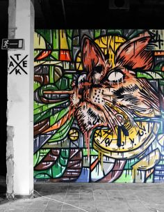 by Atek84 streetart cat