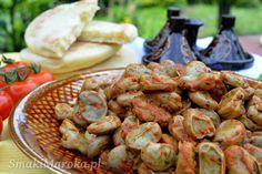 Bób po marokańsku (foul mcharmel) - SmakiMaroka.pl Shrimp, Food Porn, Bob, Meat, Legumes, Bob Cuts, Bob Sleigh, Treats, Bobs