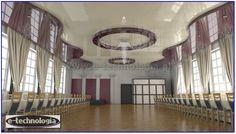 Projekt sufitów napinanaych w sali weselnej