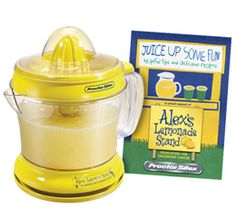 just picked this up at my local grocer  Alex's Lemonade Stand Citrus Juicer (Proctor Silex)  $1 of your purchase goes directly to Alex's Lemonade Stand Foundation for childhood cancer research