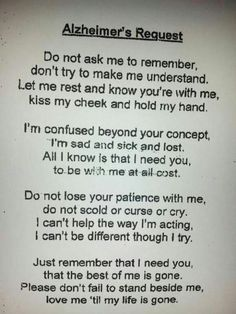 Alzheimers  Request