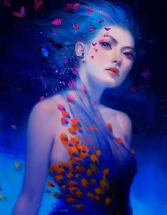 New Ideas For Anime Fantasy Art Drawing Illustrations Fantasy Girl, Fantasy Women, Anime Fantasy, Image Digital, Digital Art Gallery, My Sun And Stars, Arte Disney, Fantasy Kunst, Digital Portrait