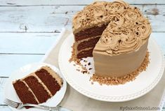 This moist Mocha Toffee Crunch Cake Recipe is a heavenly combination of rich chocolate cake, toffee bits, and mocha buttercream frosting. Toffee Cake Recipe, Classic Chocolate Cake Recipe, Sour Cream Chocolate Cake, Chocolate Espresso, Espresso Cake, Chocolate Deserts, Cream Cake, Cupcake Recipes, Cupcake Cakes