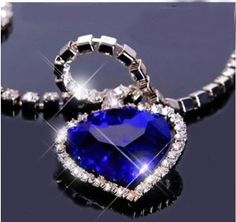 Titanic Heart of the Ocean Blue Heart Pendant Necklace with Gift Box by Gift Lot