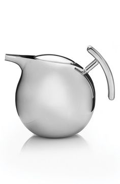 Free shipping and returns on Nambé 'Kurl' Tea Pot with Infuser at Nordstrom.com. With its stylish mid-century modern proportions and eye-catching shape, this stainless steel teapot makes a beautiful addition to a kitchen of any era. The teapot features a built-in pierced infuser, making it a snap to serve the perfect cup of tea.