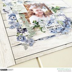 'Happy Days'~A layout featuring Wandering Ivy with Kylie. Scrapbook Pages, Scrapbooking Ideas, Scrapbook Layouts, Glitter Paint, Small Flowers, Clear Stamps, Happy Day, Color Splash, Ivy