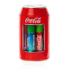Claire's Lip Smacker Coca-Cola® Flavored Lip Balm Can - Christmas-Desserts Coca Cola, Bright Summer Acrylic Nails, Vanilla Coke, Nice Lips, Lip Care, Lip Makeup, Makeup Kit, Lip Gloss, Bath And Body