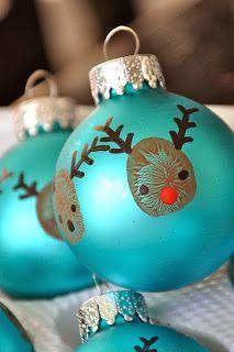 Easy Thumbprint Rudolph Ornaments