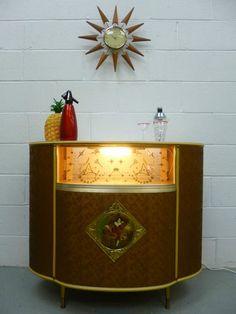 STUNNING Retro Vintage Atomic 50s 60s Kitsch Cocktail Drinks Cabinet Home Bar | eBay