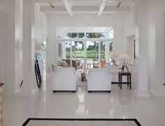 Polished White Concrete floor
