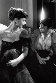 """Well i don't know darling. ...luck favors the prepared. "" audrey and Edith Head, famous costume designer."