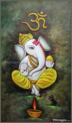 Ganesha Art 2 - Handpainted Art Painting - X Ganesh Lord, Shri Ganesh, Ganesha Art, Krishna Art, Hanuman, Lord Krishna, Lord Shiva, Durga, Free Quilling Patterns