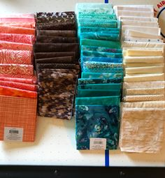 Fabric choices for Quiltville mystery quilt