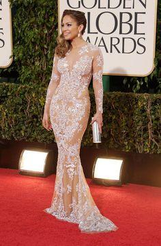 Jennifer Lopez on the Golden Globes Red Carpet 2013