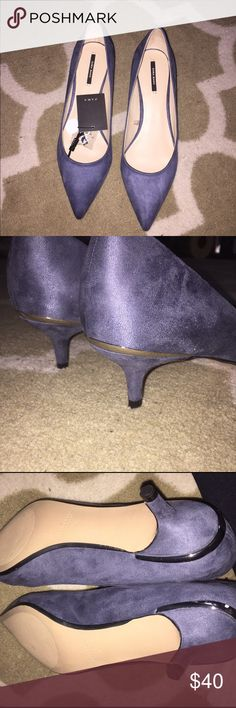 Zara Basic Suede Heels Brand new with tags attached Zara Shoes Heels