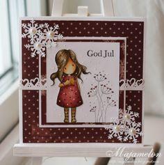 Malins vardagspyssel http://majamelon.blogspot.com #card #cardmaking #gorjussgirl #diy