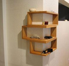 18 best wall mounted corner shelves images bookshelves shelving rh pinterest com