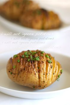 Parmesan Cheese Hasselback Baked Potatoes on FamilyFreshCooking.com