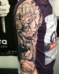 46 New Ideas Tattoo Dragon Ball Fechamento Manga Tattoo, Anime Tattoos, Tattoo On, Cool Tattoos For Guys, Dope Tattoos, Body Art Tattoos, Dragon Ball Z, Hunter Tattoo, One Piece Tattoos