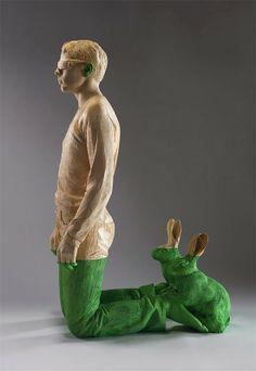 As esculturas surreais em madeira de Willy Verginer ~ Pêssega d'Oro