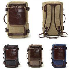 Retro Canvas Travel Messenger Bag Handbag Backpack SingleShoulder Package Unisex