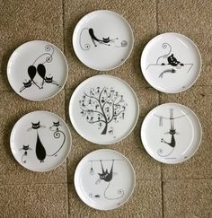 bird plate wall vinyls plates and design. Black Bedroom Furniture Sets. Home Design Ideas