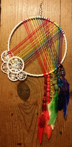 Dreamcatcher / Dream Catcher / Rainbow / by StringTheoryArtistry