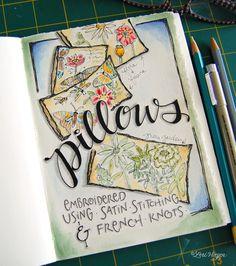 more fun art journaling from @Lori Bearden Bearden Vliegen  with pillows
