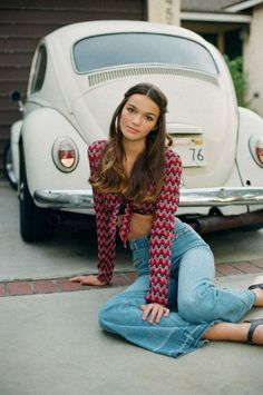 Beautiful hippie with vw beetle ♠... XBrosApparel Vintage Motor T-shirts, VW Beetle & Bus T-shirts, Great price